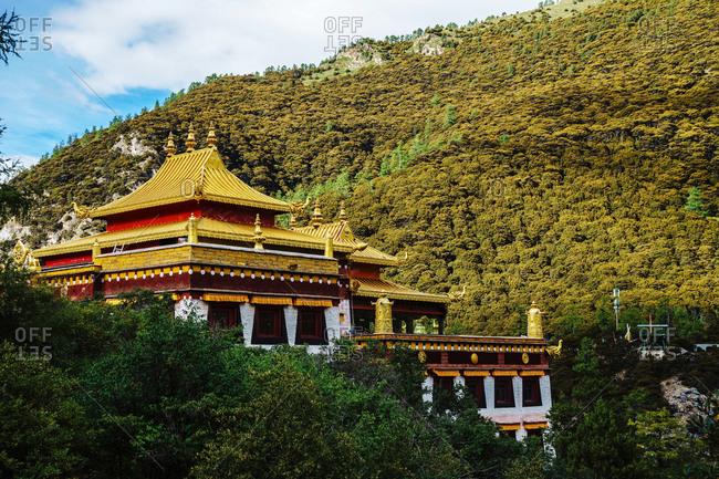 Sichuan province daocheng ancient temples