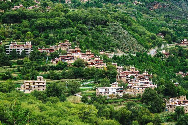 Sichuan province ganzizhou Dan yuba jiaju Tibetan village