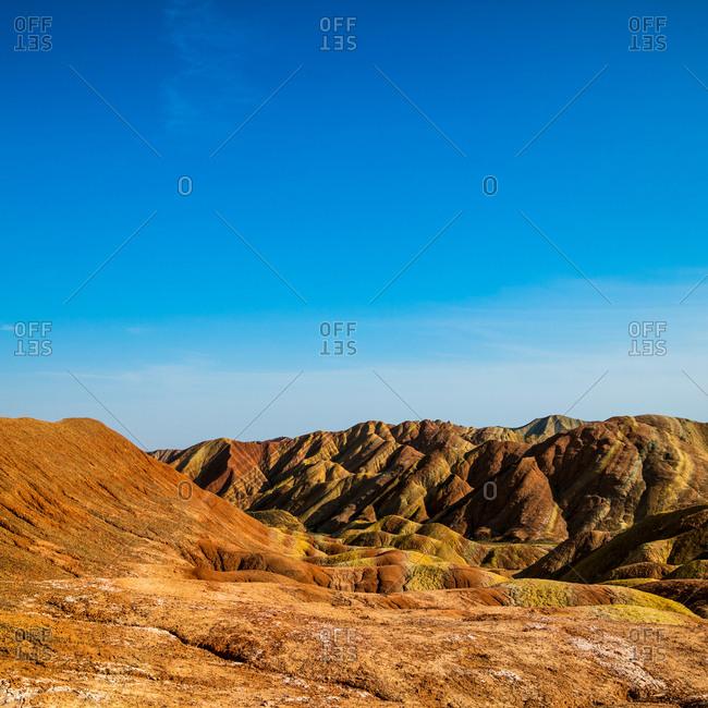 Zhangye in gansu province danxia landform