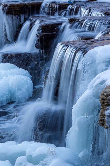 Shanxi Province NingWu rhizome bud mountain waterfalls