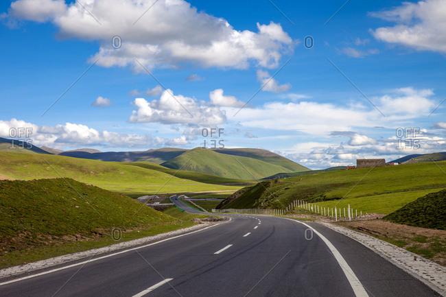 Yushu in qinghai province highway