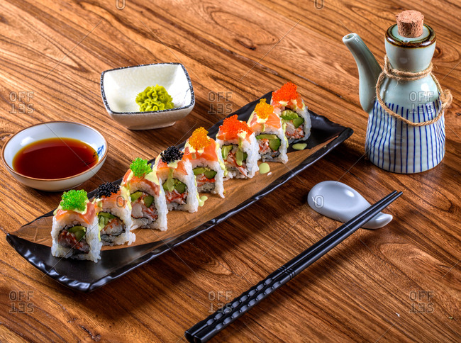 Japanese cuisine ready to eat