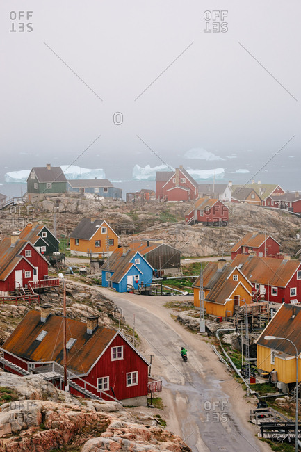 Colorful houses in a town in Greenland
