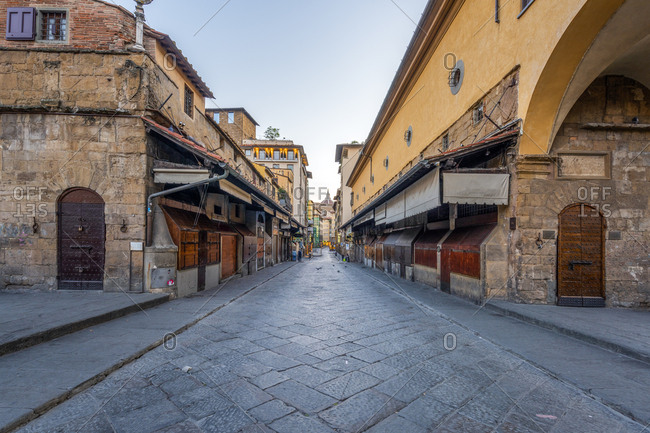 April 12, 2017: Italy- Tuscany- Florence- Old town- alley