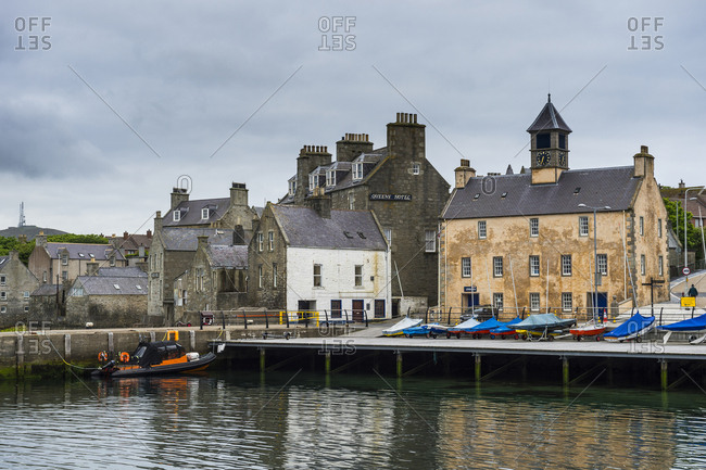 June 8, 2017: United Kingdom- Scotland- Shetland Islands- Seafront of Lerwick