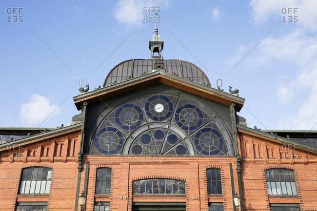 November 2, 2018: Germany- Hamburg- Altona- Detail of the fish market hall