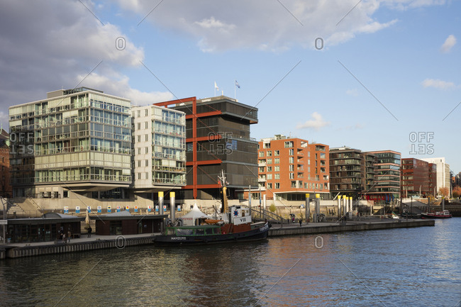 November 2, 2018: Germany- Hamburg- HafenCity- Sandtorhafen