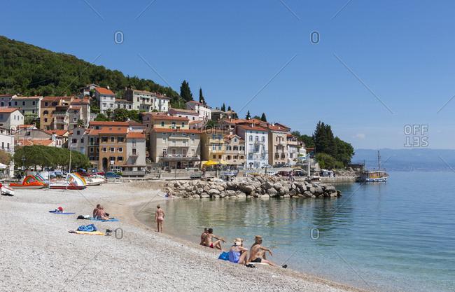 May 18, 2017: Croatia- Istria- Adria- Kvarner Gulf- Moscenicka Draga- beach