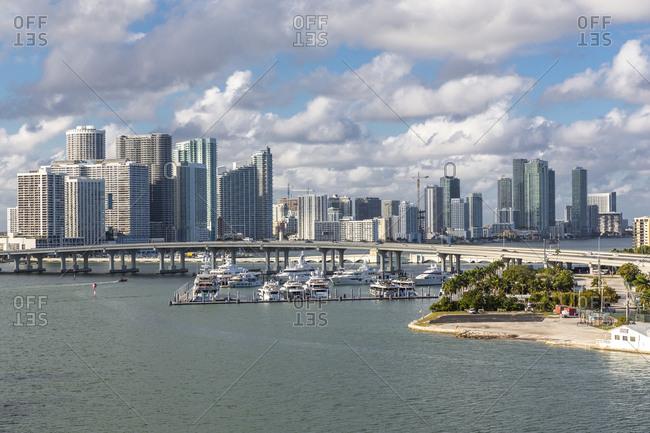 USA- Florida- skyline of Downtown Miami