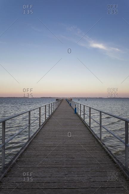 Germany- Ruegen- Dranske- Sea Bridge in the morning light