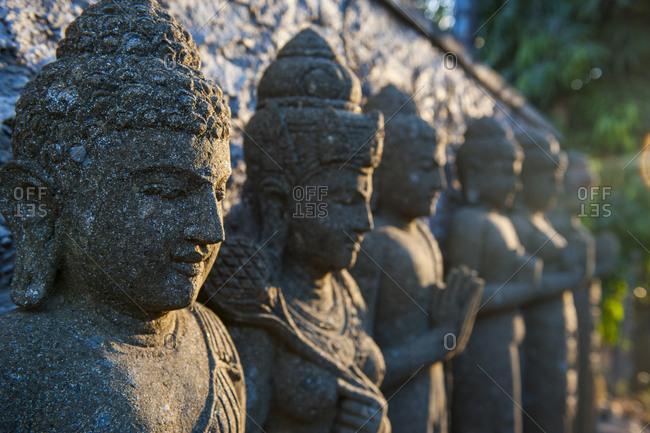 Indonesia Bali- Stone statues in the Pura Besakih temple complex
