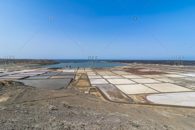 Spain- Canary Islands- Lanzarote- Salinas de Janubio