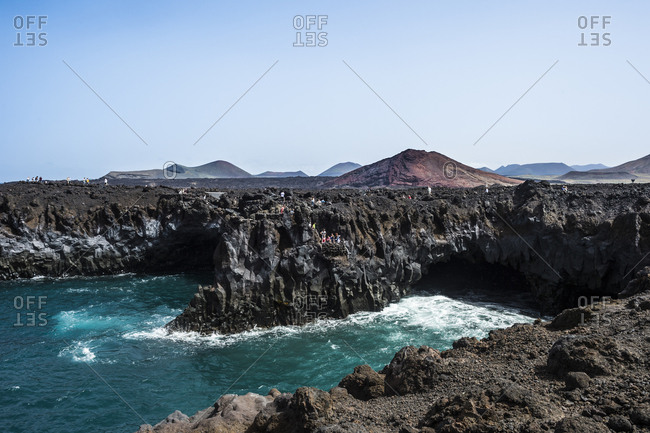 Spain- Canary Islands- Lanzarote- Los Hervideros