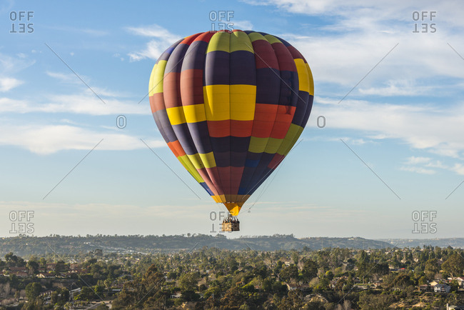 USA- California- Del Mar- Hot air balloon