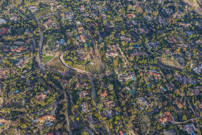 USA- California- Del Mar- Aerial view of villas