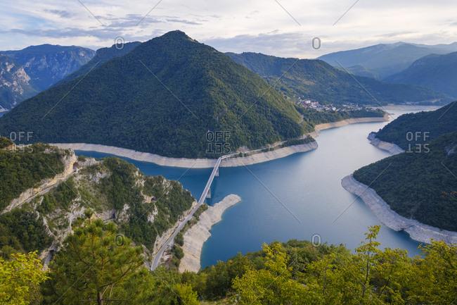 Montenegro- Pluzine province- reservoir Pivsko jezero