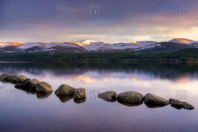 United Kingdom- Scotland- Highlands- Cairngorms National Park- Loch Morlich