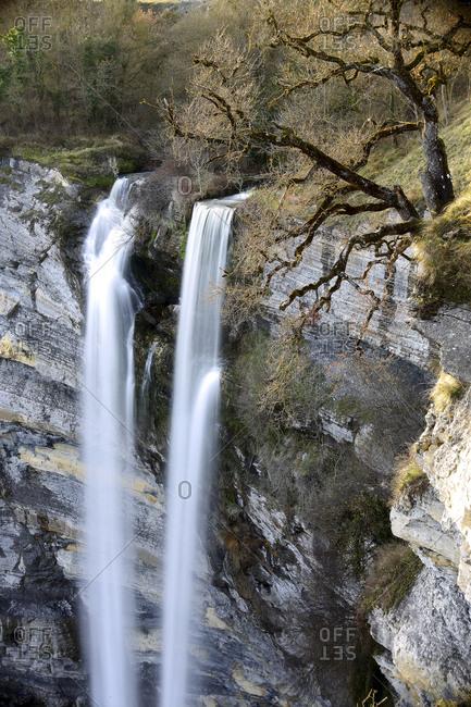 Spain- Basque Country- Cascade of Gujuli- Gorbea Natural Park