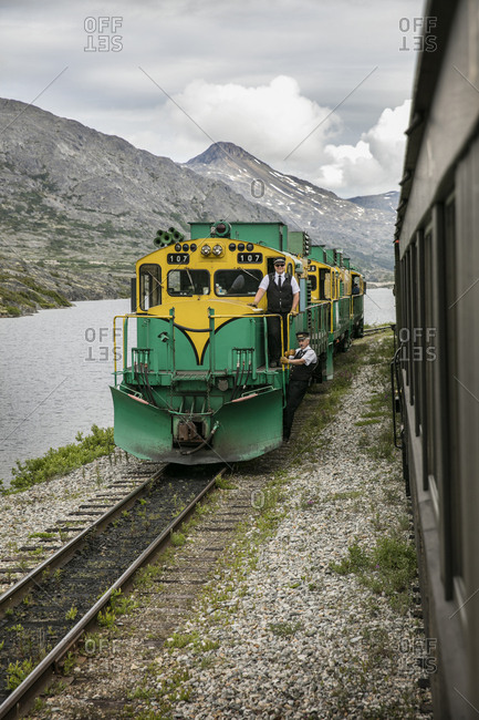 January 1, 2000: USA, Alaska, Sitka, sceanic views from aboard the White Pass & Yukon Route Railroad which took 450 tons of explosives and tens of thosands of men to build, the railroad runs from the town of Sitka up and into Canada