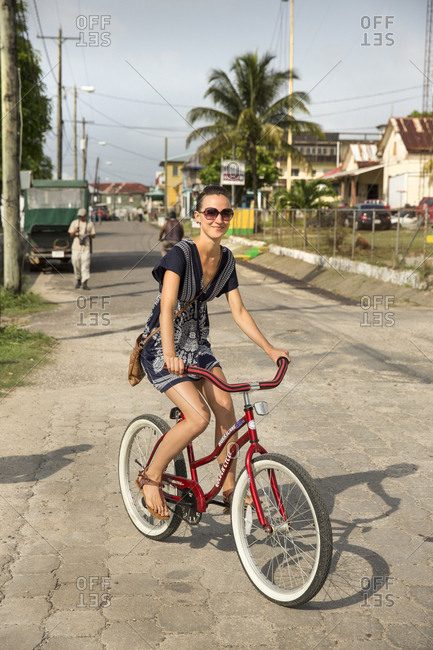 May 28, 2014: BELIZE, Punta Gorda, Toledo, guests staying at Belcampo Belize Lodge and Jungle Farm can ride bikes around the town of Punta Gorda