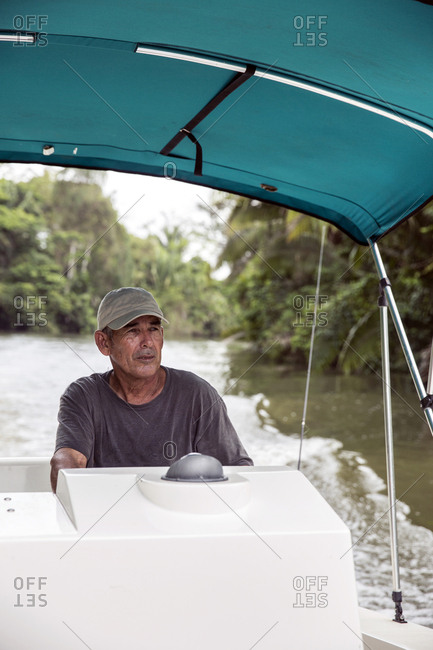 May 29, 2014: BELIZE, Punta Gorda, Toledo, guests can go fishing on their way out to their snorkeling tour, all of the guides are local to the Southern Belize region and are extremely patient and professional, Belcampo Belize Lodge and Jungle Farm