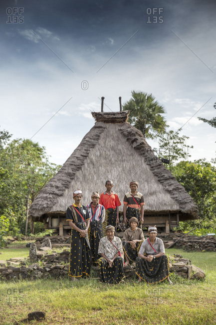 July 16, 2013: INDONESIA, Flores,INDONESIA, Flores, portrait of elder men in the village of Kampung Tutubhada in Rendu