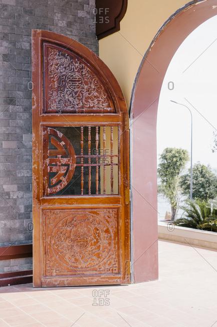 Vietnam temple door