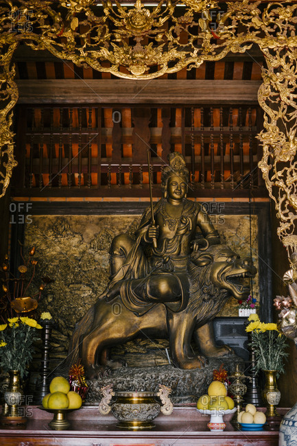 Buddha in a Chinese temple in Vietnam