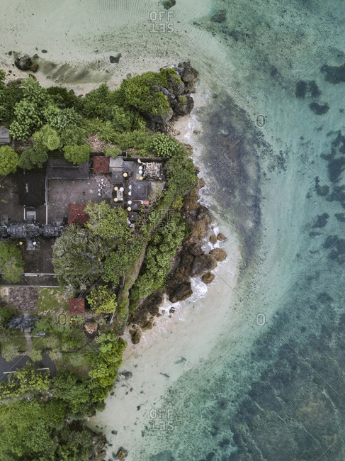 Aerial view of Balinese temple
