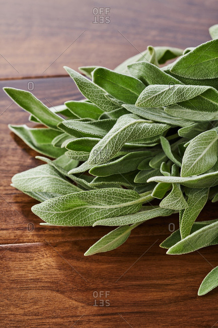 Bunch of sage on a table