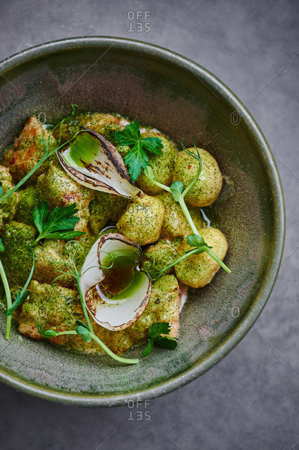 Tender gnocchi in modern Nordic style