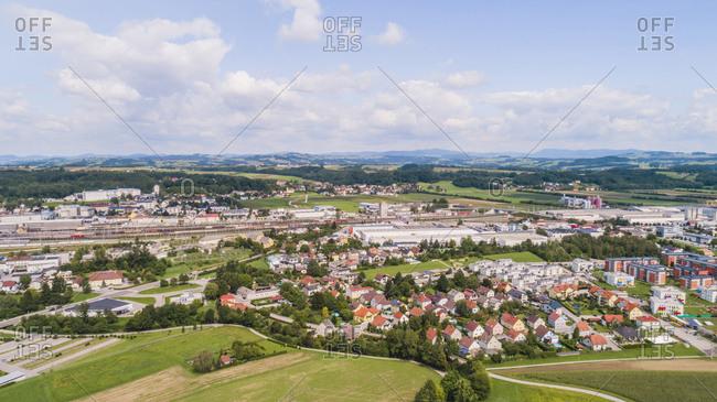 Austria- Lower Austria- Aerial view of Amstetten