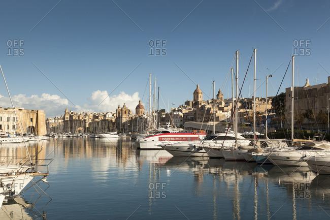 Malta - February 11, 2018: Malta- Valletta- Harbor