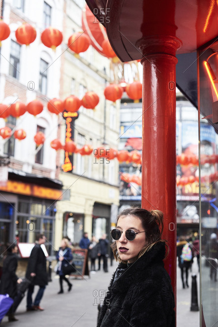 London- young woman in Chinatown
