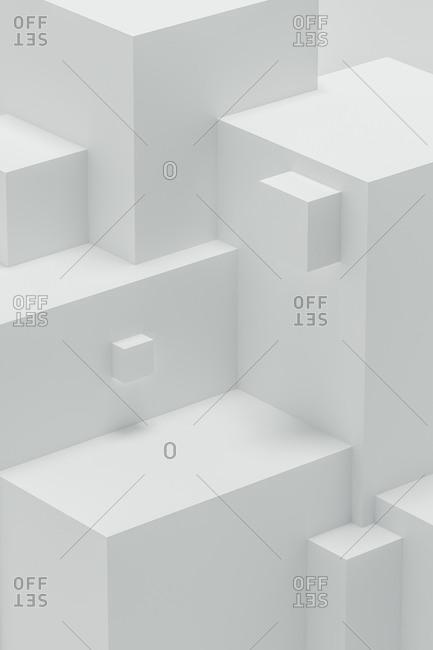 Abstract 3d angular shapes