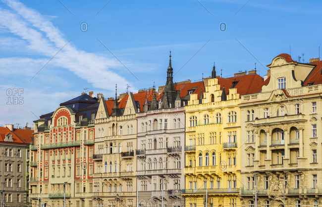 Czechia- Prague- row of houses
