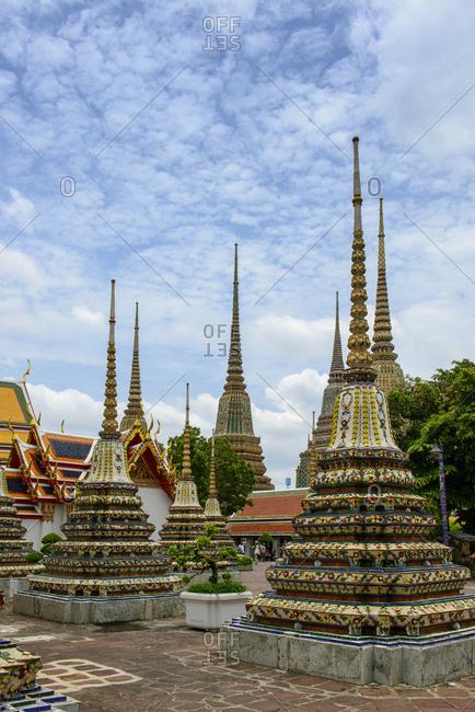 Thailand- Bangkok- Wat Pho- Wat Phra Chetuphon- Phra Chedi Rai-
