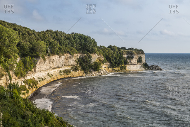 Denmark- Zealand- Stevns Klint- white chalk cliff