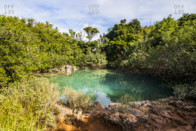 Bermuda- Sinkhole in the Blue Hole Park
