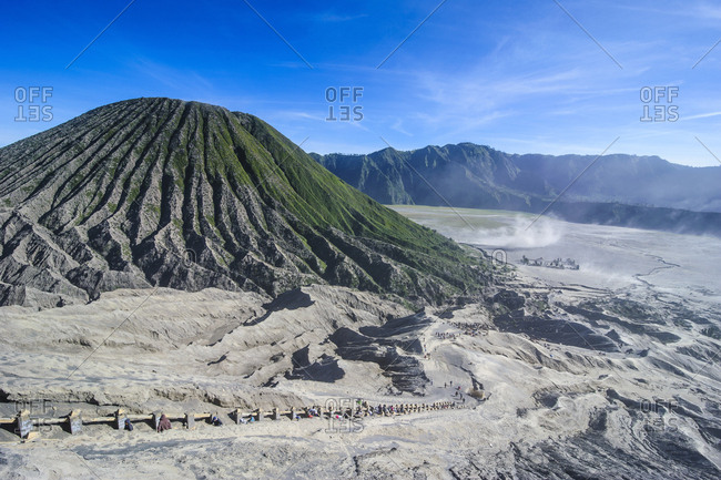 Indonesia- Java- Bromo Tengger Semeru National Park- Mount Bromo crater