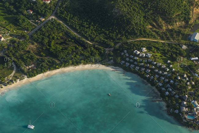 Caribbean- Aerial view of Antigua