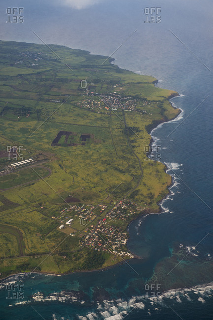 Caribbean- Lesser Antilles- St. Kitts and Nevis- Aerial view of St. Kitts