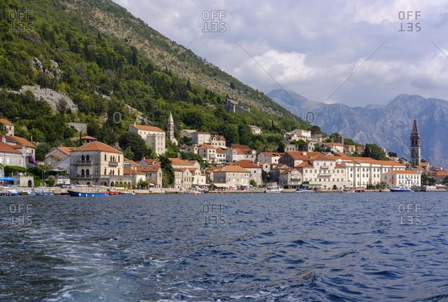 Montenegro - September 15, 2018: Bay of Kotor- Perast