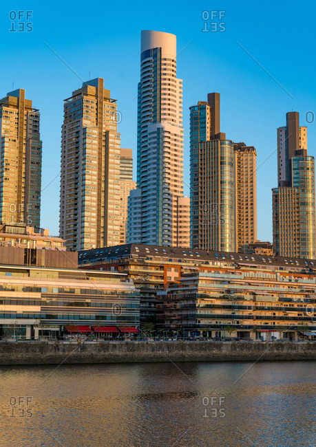 View on modern Architecture in the famous Neighborhood of Puerto Madero in Buenos Aires- Argentina.