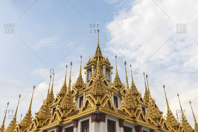 Thailand- Bangkok- close-up of Loha Prasat temple
