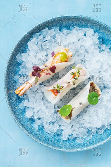 Sushi on ice