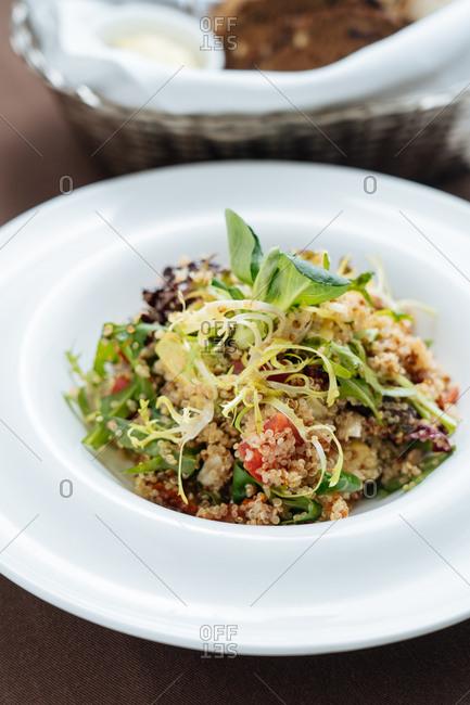 Gourmet quinoa dish