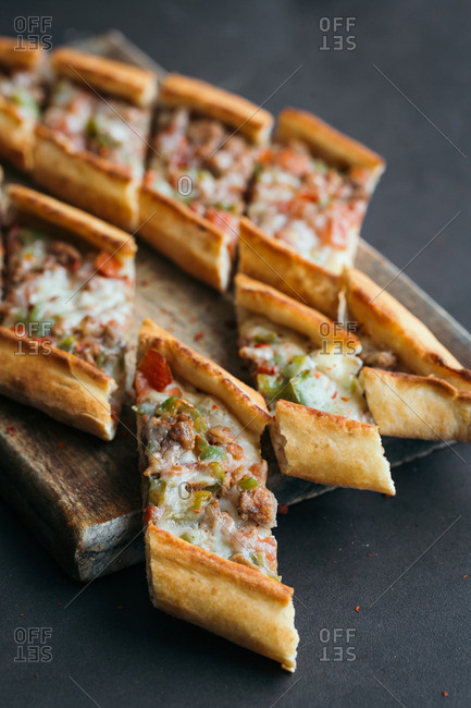 Traditional Turkish pide