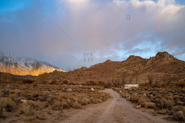 Sunrise over the Sierra Nevada's in California