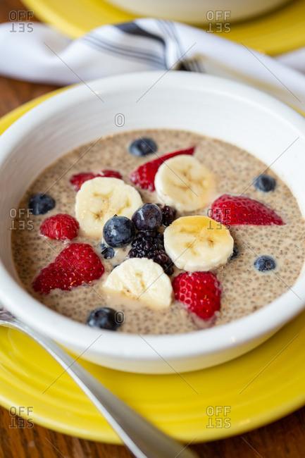 Quinoa breakfast bowl with fruit